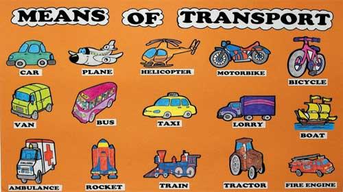 Từ vựng tiếng Anh: các phương tiện giao thông.