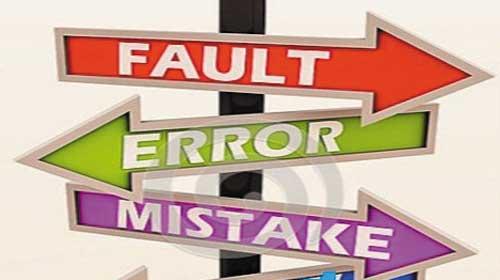 Phân biệt lỗi : Mistake, Error, Defect, Fault