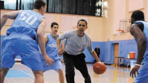 Barack Obama chơi bóng rổ - Barack Obama plays basketball