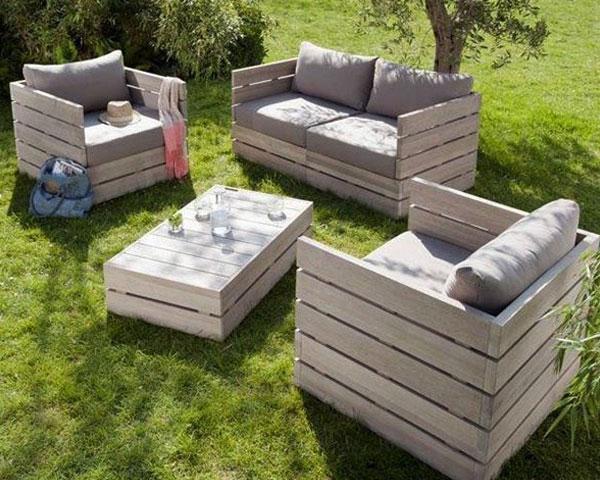 Sofa bằng pallet gỗ đẹp