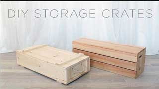 Thùng gỗ chứa đồ