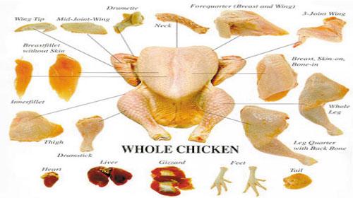 Tên các phần thịt của con gà