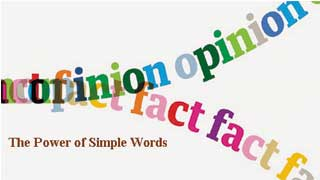 Sức mạnh của những từ ngữ giản đơn