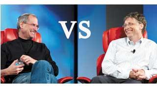Steve Jobs so tài Bill Gate với nhạc ráp rất độc.
