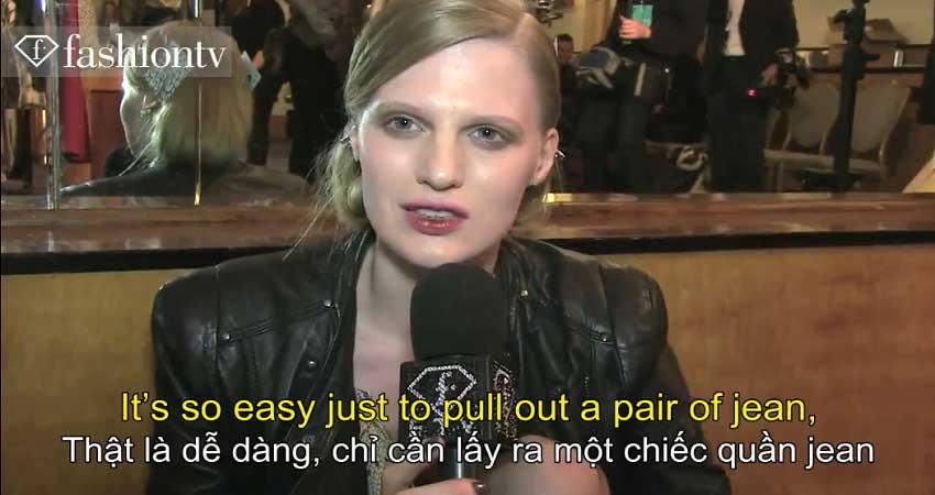 Người mẫu nói về phong cách Trang phục hàng hiệu