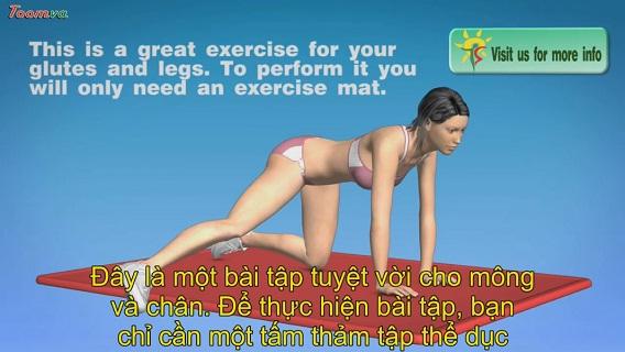 Bài tập thể dục tại nhà cho mông và chân