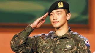 Người hâm mộ vui mừng khi ngôi sao Hàn Quốc, Rain, hoàn thành nghĩa vụ quân sự