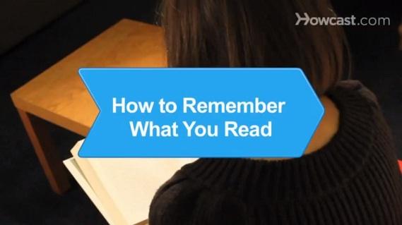 Cách ghi nhớ những gì bạn đã đọc