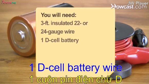 Cách tự làm một mô tơ điện đơn giản