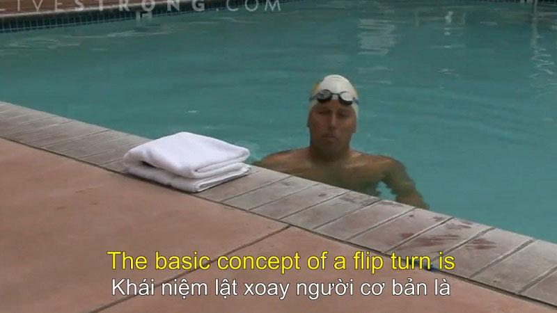 Cách lật xoay người khi bơi
