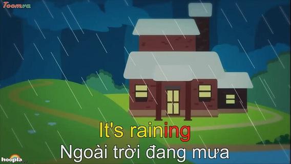 Ngoài trời đang mưa