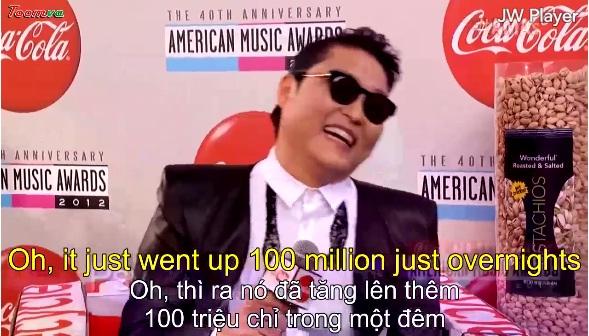 Phỏng vấn Psy tại thảm đỏ AMA 2012