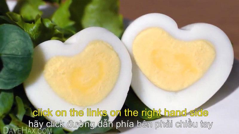Cách tạo trứng hình trái tim ngày Valentine