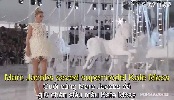 Kate Moss khiến sàn diễn Louis Vuitton sửng sốt