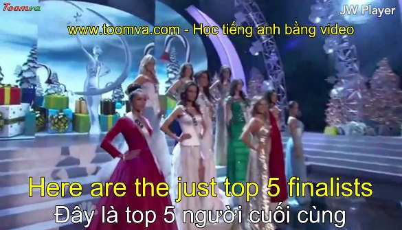 Công bố top 5 Hoa hậu Hoàn Vũ 2012