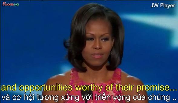 Bài diễn văn đầy xúc động của bà Michella Obama ở Charlotte